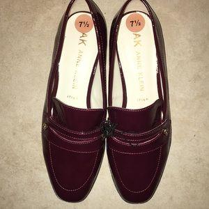 New Anne Klein Velma Burgundy Patent Leather Flats